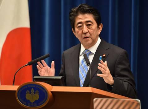 Il premier giapponese Shinzo Abe (KAZUHIRO NOGI/AFP/Getty Images)