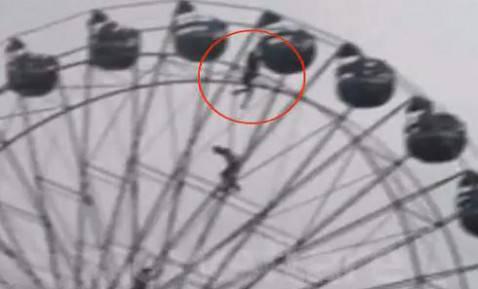 Spettacolare salvataggio al lunapark (screenshot Youtube)