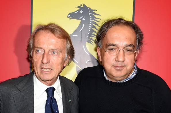 Sergio Marchionne e Luca Cordero di Montezemolo (getty images)