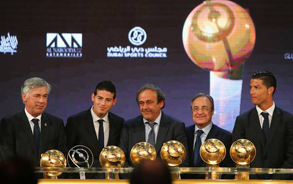 Platini premia il Real Madrid (getty images)
