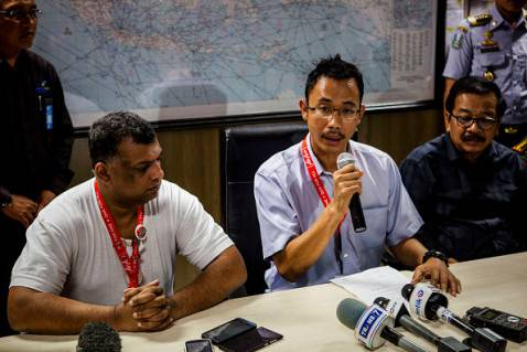 conferenza stampa di AirAsia (Oscar Siagian/Getty Images)