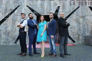 Fortunato Cerlino e il cast di Gomorra (getty images)