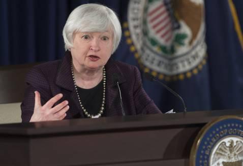 La presidente della Federal Reserve Janet Yellen (SAUL LOEB/AFP/Getty Images)