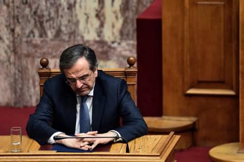 L'amarezza di Samaras (ARIS MESSINIS/AFP/Getty Images)