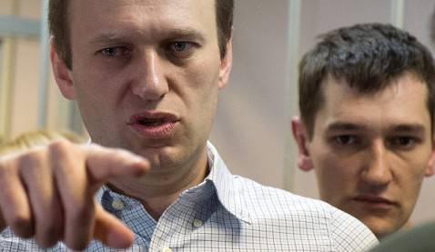 Alexei Navalny e il fratello Oleg (DMITRY SEREBRYAKOV/AFP/Getty Images)