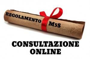 Regolamento M5S (screen shot sito Beppegrillo.it)