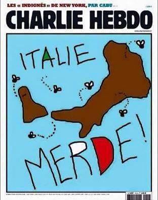La Vignetta di Charlie Hebdo  che fa infuriare gli italiani ma la verità è un'altra