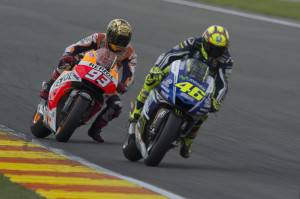 Marc Marquez e Valentino Rossi (getty images)