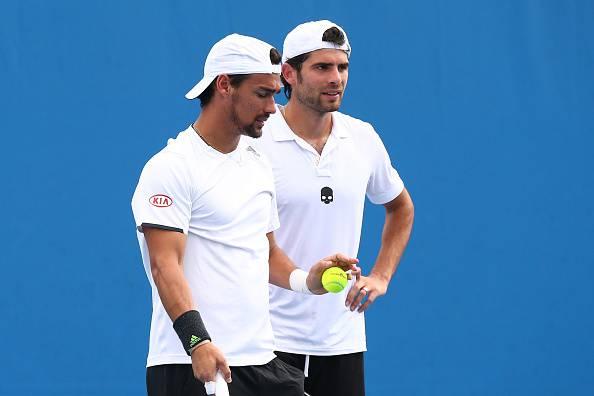 Tennis, Australian Open: buone notizie dalla coppia Bolelli-Fognini
