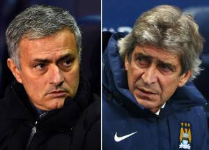 Mourinho vs Pellegrini (getty images)