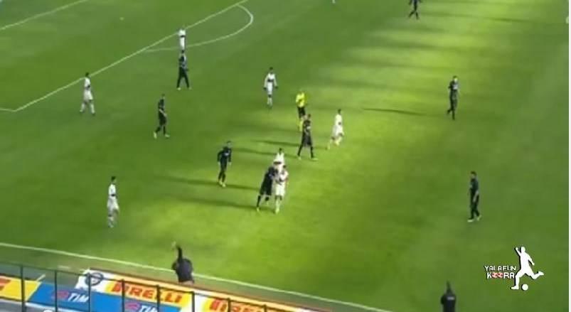 Inter-Genoa, Andreolli stende Mancini con una pallonata VIDEO