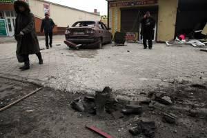 Ucraina, iniziata l'offensiva su Mariupol: 30 morti   (Photo credit should read STRINGER/AFP/Getty Images)