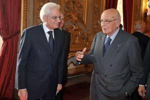 Sergio Mattarella con Giorgio Napolitano (foto presidenza della Repubblica)
