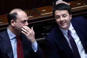 Alfano scherza con Renzi (Franco Origlia/Getty Images)
