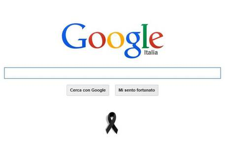 Charlie Hebdo, homepage di Google in lutto