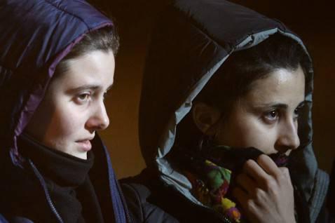 Greta Ramelli e Vanessa Marzullo (FILIPPO MONTEFORTE/AFP/Getty Images)