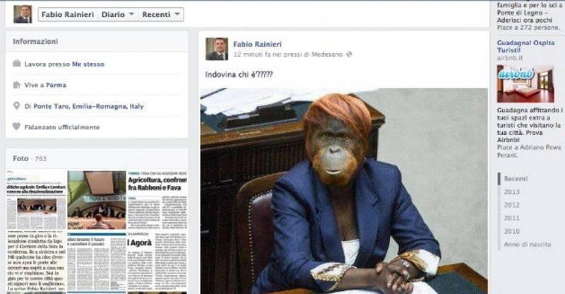 Posta su Facebook un fotomontaggio con la Kyenge: condannato a maxi risarcimento