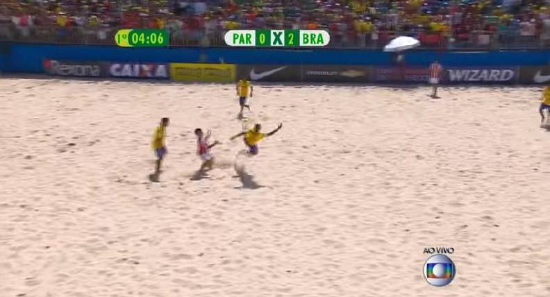 Beach Soccer, strepitoso gol del brasiliano Gabriel VIDEO