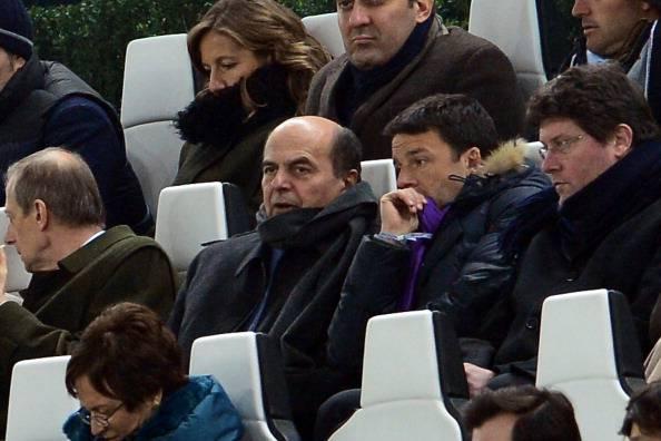 Bersani e Renzi (GIUSEPPE CACACE/AFP/Getty Images)