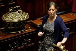 Maria Elena Boschi vota al Quirinale (ANDREAS SOLARO/AFP/Getty Images)