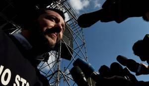 Salvini in Piazza del Popolo (TIZIANA FABI/AFP/Getty Images)