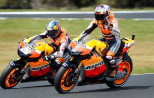 Dani Pedrosa-Casey Stoner (getty images)