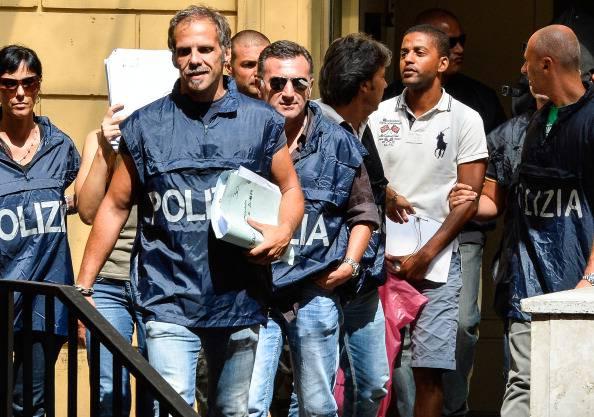 Arresti a Ostia (ANDREAS SOLARO/AFP/Getty Images)