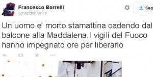 Il profilo Twitter di Francesco Emilio Borrelli (screenshot)