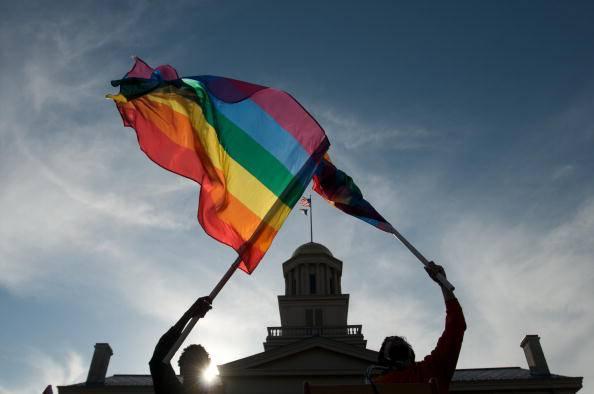 Bandiera dei diritti omosessuali (David Greedy/Getty Images)
