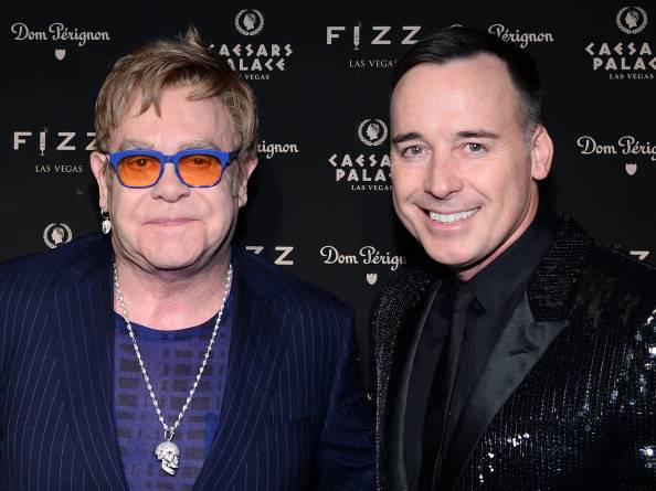 Elton John e David Furnish (Ethan Miller/Getty Images)