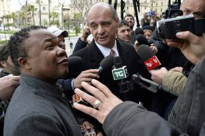 All'udienza anche Lumumba (ANDREAS SOLARO/AFP/Getty Images)