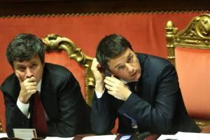 Il ministro Orlando e il premier Renzi (Franco Origlia/Getty Images)