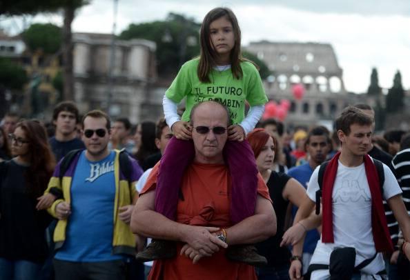 Manifestazione per la scuola (FILIPPO MONTEFORTE/AFP/GettyImages)