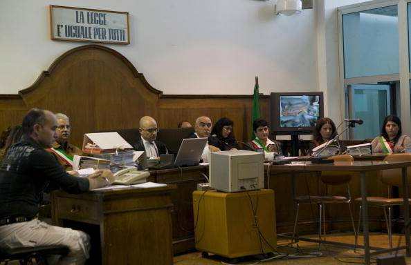 Aula di tribunale (ANTONIO TACCONE/AFP/Getty Images)