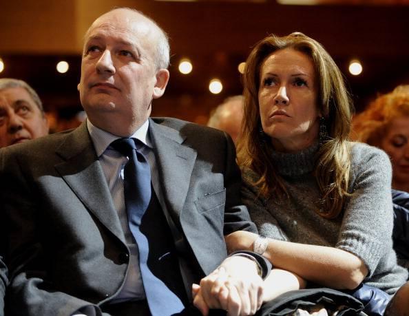 Sandro Bondi e Manuela Repetti (TIZIANA FABI/AFP/Getty Images)