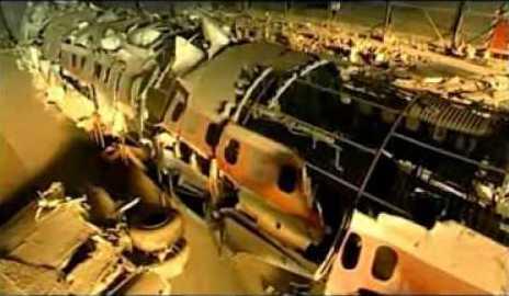 Ustica, il relitto del Dc-9 (screenshot Youtube)