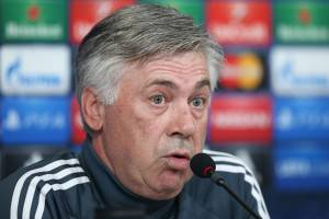 Carlo Ancelotti (Photo credit should read MARCO BERTORELLO/AFP/Getty Images)