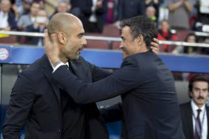 Luis Enrique e Pep Guardiola (Photo by Albert Llop/Anadolu Agency/Getty Images)