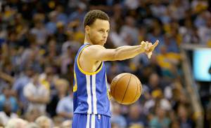 MEMPHIS, TN - MAY 11:  Stephen Curry #30 of the Golden State Warriors gives instructions to his teaml against the Memphis Grizzlies during Game four of the Western Conference Semifinals of the 2015 NBA Playoffs at FedExForum on May 11, 2015 in Memphis, Tennessee.  NOTE TO USER: User expressly acknowledges and agrees that, by downloading and or using this photograph, User is consenting to the terms and conditions of the Getty Images License Agreement  (Photo by Andy Lyons/Getty Images)