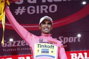 Alberto Contador (Photo credit should read LUK BENIES/AFP/Getty Images)