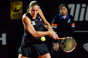 Karin Knapp (Photo credit should read ANDREAS SOLARO/AFP/Getty Images)