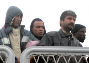 Abdelmajid Touil al suo arrivo in Italia (MARCELLO PATERNOSTRO/AFP/Getty Images)