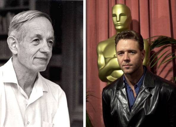 "(FILE PHOTO) In this composite image a comparison has been made between John Forbes Nash, Jr. and actor Russell Crowe. Oscar hype continues this week with the announcement of the nominations for the 84th Academy Awards. Luise Rainer became the first actress to receive an Academy Award for her role in the 1936 biopic 'The Great Ziegfeld,' playing stage performer Anna Held. Over half of the last ten Oscars for best actor or actress have been for performances in a biopic. ***LEFT IMAGE***1994: John Forbes Nash, Jr., the schizophrenic mathematician who won a Nobel Prize for economics and whose life story was made into the Academy Award-nominated film ""A Beautiful Mind"" is distributed on February 20, 2002 from a 1994 photo in Princeton, NJ. (Photo by Robert P. Matthews/Princeton University/Getty Images)***RIGHT IMAGE***2000:  Best actor in a leading role nominee Russell Crowe arrives To The Academy Of Motion Picture Arts And Sciences Nominees Luncheon on March 13, 2000 In Beverly Hills, California.  (Photo By David Mcnew/Getty Images)"