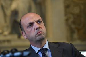 Interior Minister Angelino Alfano attends a press conference on April 9, 2015 at the Tribunal of Milan. An armed man, identified as Claudio Giardiello, facing bankruptcy shot dead 3 persons including a judge and lawyer in a Milan court and wounded two other people before fleeing the scene. The sound of shots sparked panic in the court, with lawyers fleeing the scene while police officers searched for the gunman, who was believed to be still inside the building. AFP PHOTO / OLIVIER MORIN / OLIVIER MORIN        (Photo credit should read OLIVIER MORIN/AFP/Getty Images)