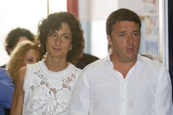 Agnese Landini con Renzi (CLAUDIO GIOVANNINI/AFP/Getty Images)
