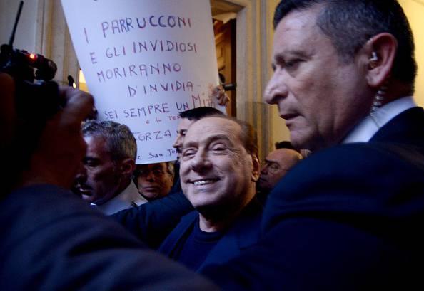 Berlusconi (FILIPPO MONTEFORTE/AFP/Getty Images)