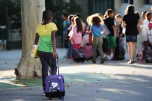 Scuola Francia Musulmani bambini