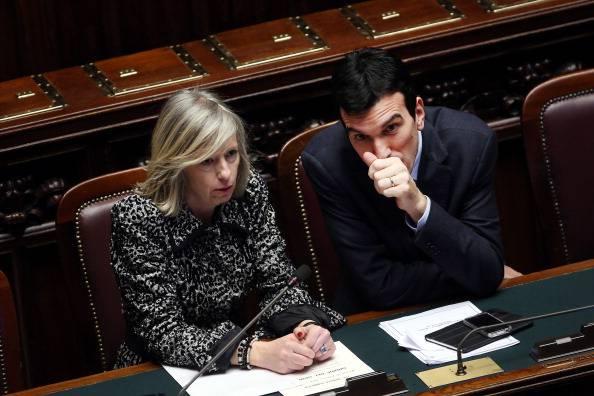 Il ministro Giannini in Aula (Franco Origlia/Getty Images)