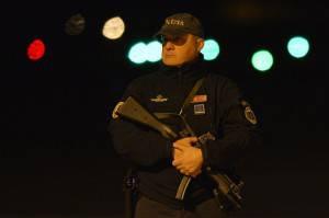 Polizia a Fiumicino (ANDREAS SOLARO/AFP/Getty Images)