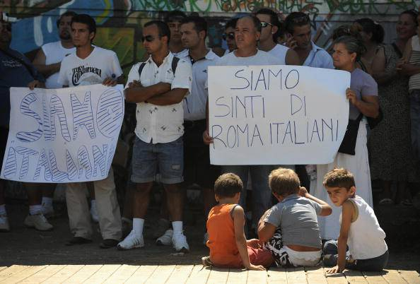 Popolo sinti reclama diritti (FILIPPO MONTEFORTE/AFP/Getty Images)